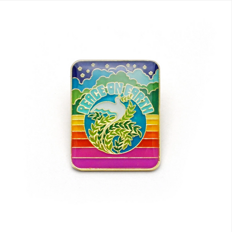 Enamel Pin- Peace On Earth