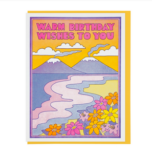 Greeting Card- Warm Birthday Wishes To You