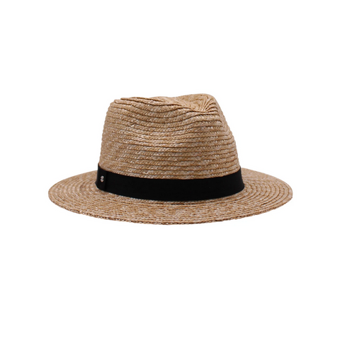 Eros, Natural Short Brim Fedora- Black Band