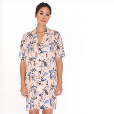 Hawaii Shirt Dress