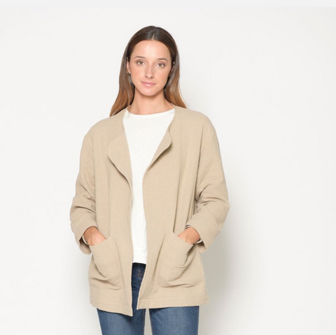 Cotton Jacket- Sand