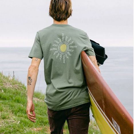 The Swirl Tee- Green