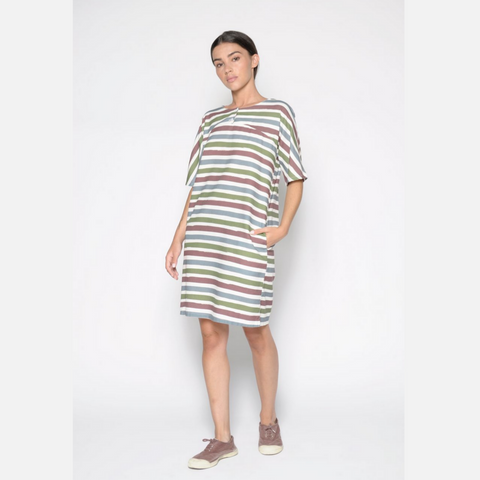 Striped Tunic Dress with Pocket