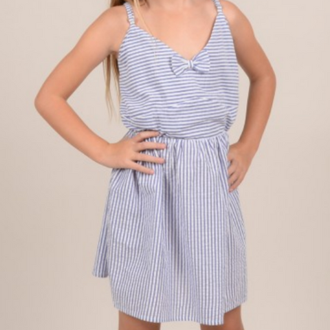 Girls woven dress, Denim