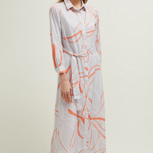 Ava Abstract LS Shirt Dress
