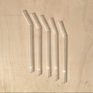 "Glass Straw — 8"" Bend"