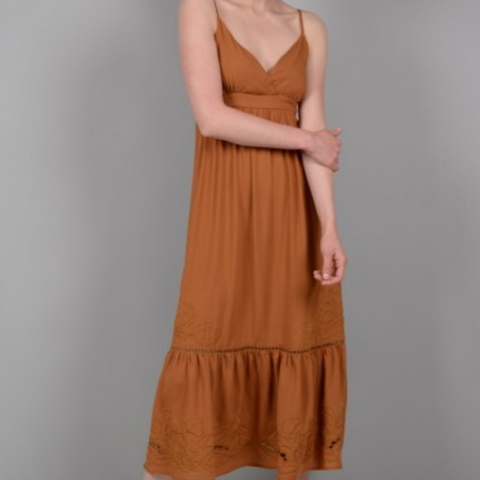 Ladies Woven Dress, Camel