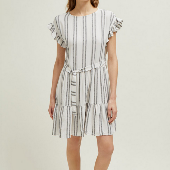 Sahara Stripe SS RND NK Dress
