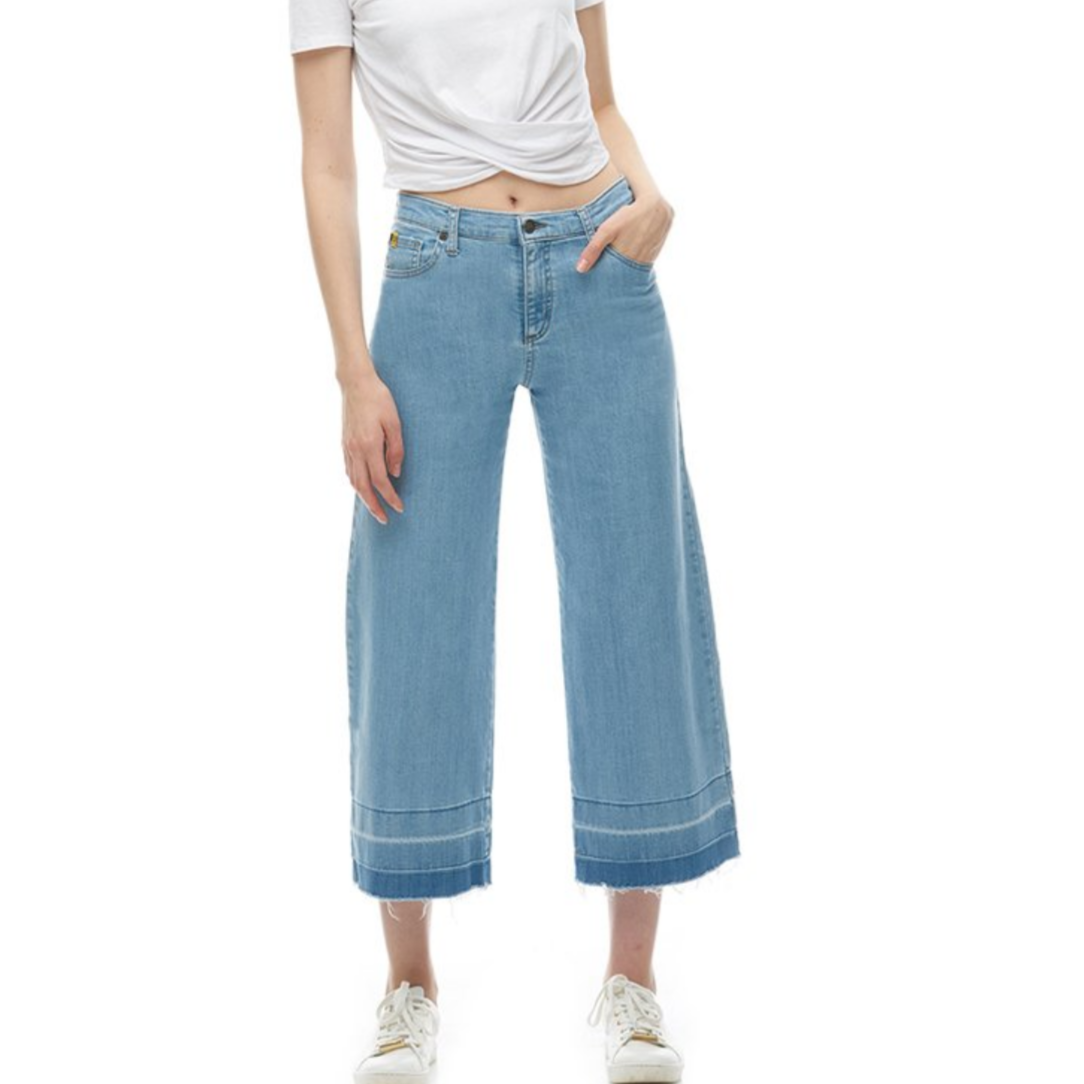 High Rise Cropped Wide Leg Pant