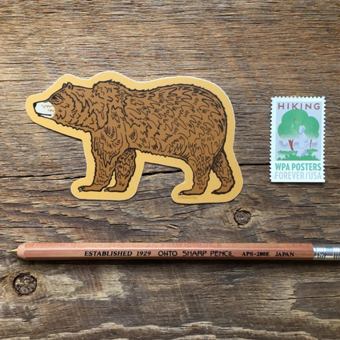 Vinyl Sticker, Grizzly