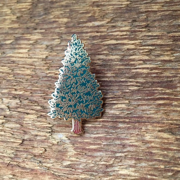 Enamel Pin, Pine Tree