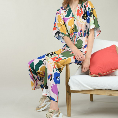 Fauvisme printed jumpsuit