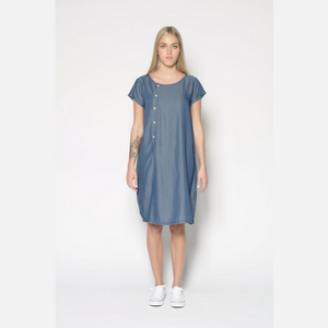 Domed Tencel Dress