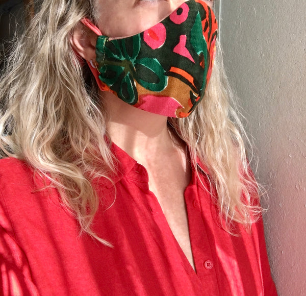 1960's Vintage Fabric- Non Medical Mask