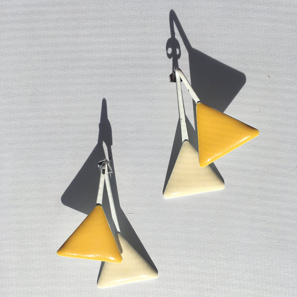 Triangle Stud Earrings- Vintage