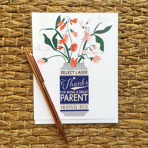Greeting Card- Thanks For Being A Great Parent
