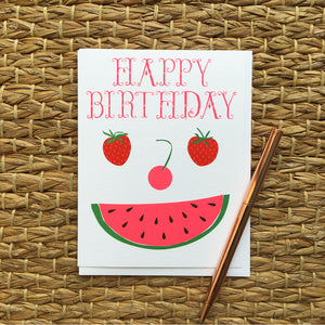 Greeting Card- Happy Birthday, Fruit