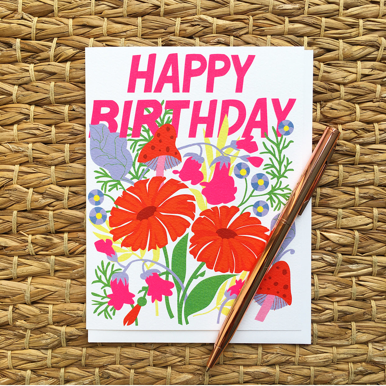 Greeting Card- Happy Birthday, Garden
