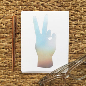 Greeting Card- Hologram Peace