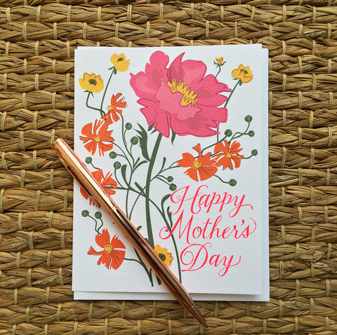 Greeting Card- Happy Mothers day Flowers