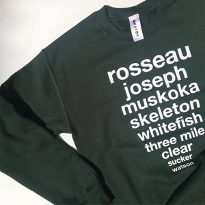 Muskoka Lakes Sweatshirt- Green
