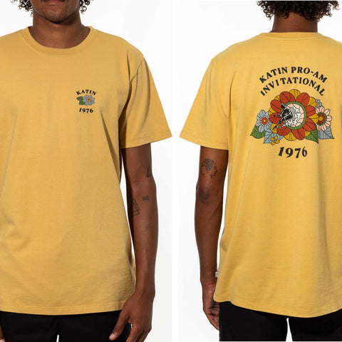 Flower Power Tee- Vintage Yellow