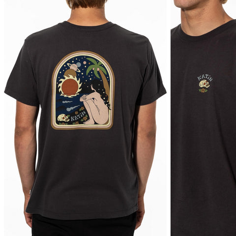 Galaxy Tee-Black Wash