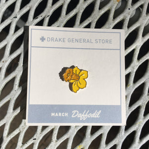 Enamel Pin, Month Flower