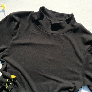 Mock Neck Long Sleeve, Black