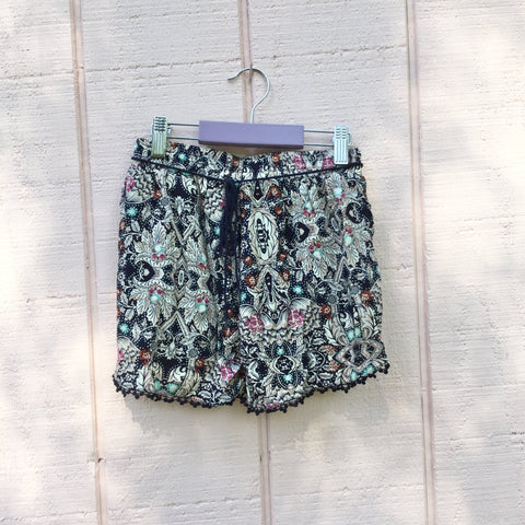 Girls Shorts, Blue Print