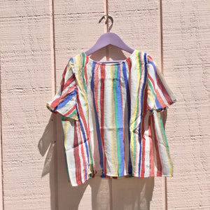 Woven Top, Stripe, Multi