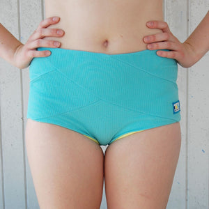 High Bottoms in Seafoam/Lemon