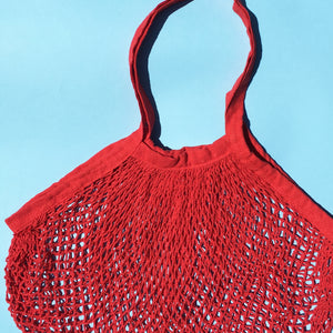 Crochet Tote in Cardinal Red