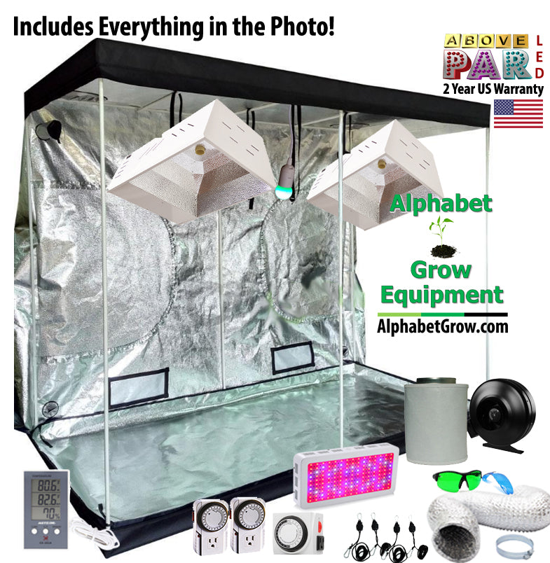 Growers Choice - 4x8ft Grow Pro Kit w/2 315w CMH u0026 1500w Above PAR LED with UV u0026 IR  sc 1 th 227 : grow tent packages deals - afamca.org