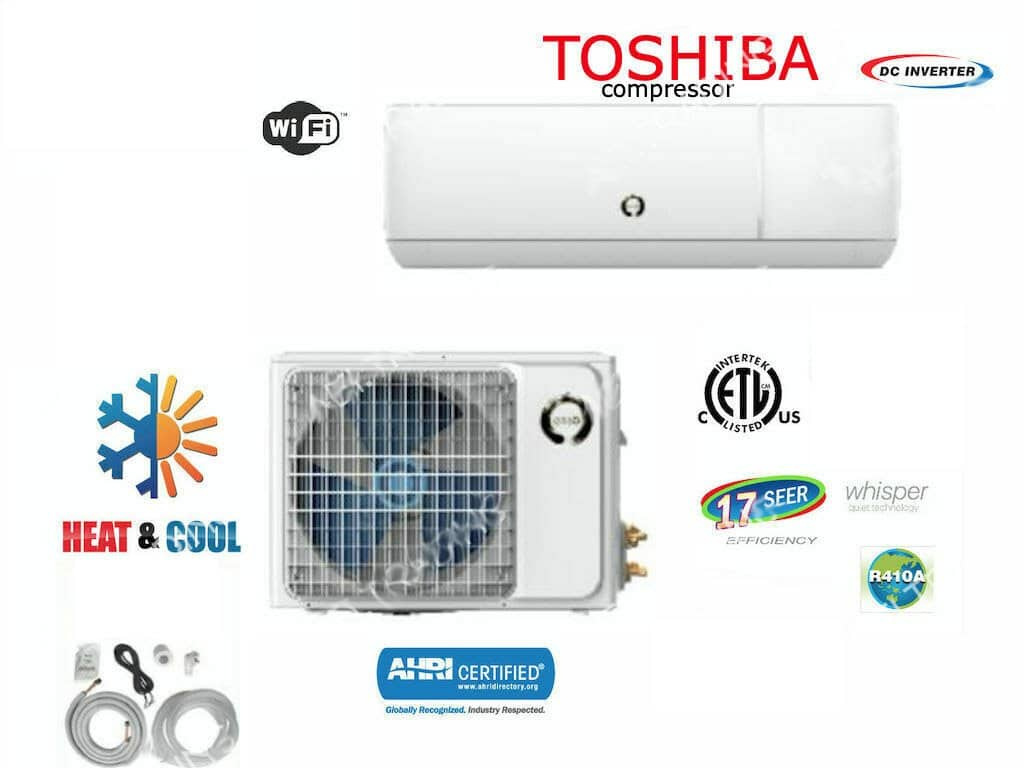 2 Ton Mini Split AC Unit (24,000 BTU)
