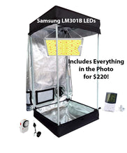 Load image into Gallery viewer, 2x2 ft 4ft Tall LED Grow Tent Kit - Samsung 100w LED Option in Photo