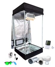 Load image into Gallery viewer, 2x2 ft 4ft Tall LED Grow Tent Kit