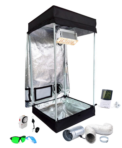 2x2 ft 4ft Tall LED Grow Tent Kit