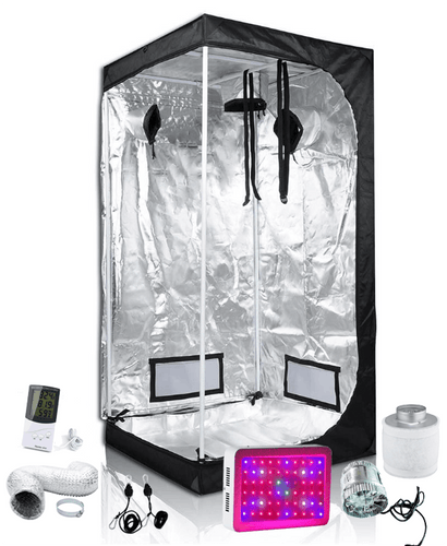 3x3ft 6ft Tall Above PAR LED Grow Tent Kit