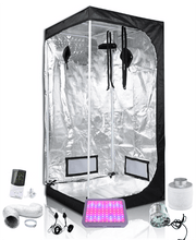 Load image into Gallery viewer, 3x3ft 6ft Tall Above PAR LED Grow Tent Kit
