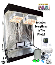 Load image into Gallery viewer, 4x2 ft 5ft Tall Above PAR LED Grow Tent Kit