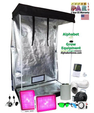 Load image into Gallery viewer, 4x2ft 6ft Tall Above PAR LED Grow Tent Kit