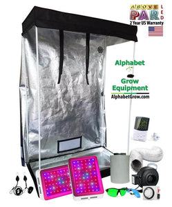 4x2ft 6ft Tall Above PAR LED Grow Tent Kit
