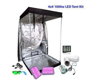 4x4 ft Above PAR LED Grow Tent Kit