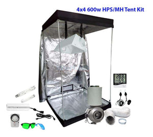 4x4ft 600w HPS/MH Grow Tent Kit