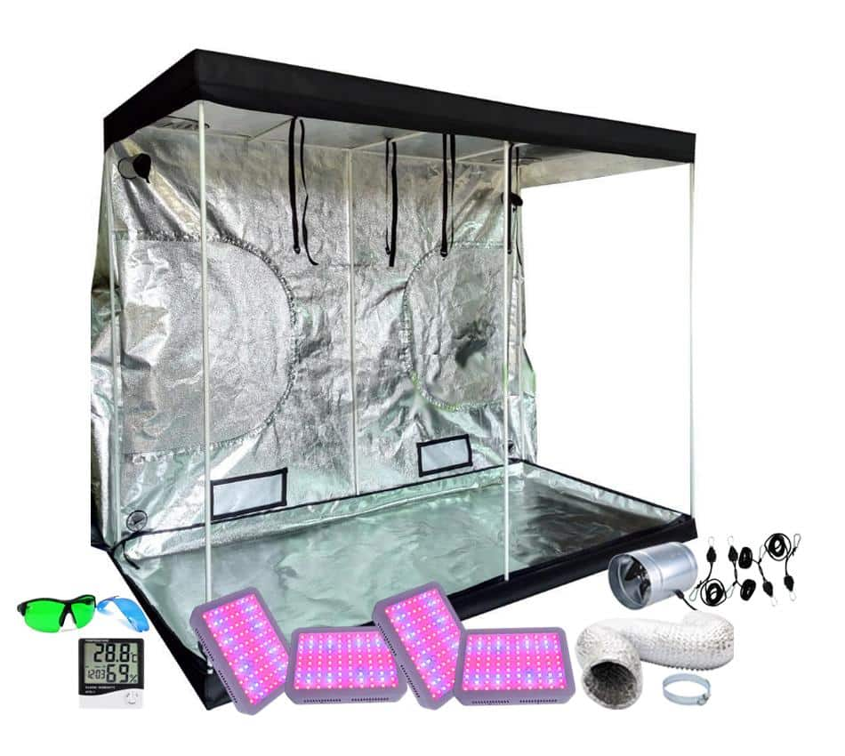 4x8ft Above PAR LED Grow Tent Kit