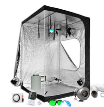 Load image into Gallery viewer, 5x5ft Above PAR LED Grow Tent Kit