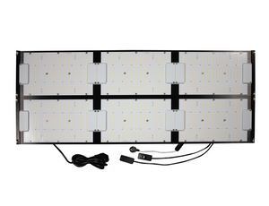 600w Above PAR Quantum Board Grow Light 3000k Samsung LEDs with Deep Red 660nm R Spec, UV + IR (HLG Style)