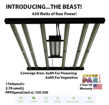 "Load image into Gallery viewer, 5x5 ft Grow Pro Above PAR Samsung LED ""The Beast"" with UV + IR + Deep Red Grow Tent Kit"