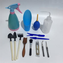 Load image into Gallery viewer, 21pcs Mini Garden Tools Set Miniature Planting Gardening Tool Set Succulent Transplanting Tools Kit